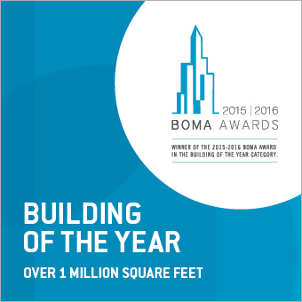 Le 1000, winner of a BOMA Building of the Year award in the Above One Million Square Feet category.