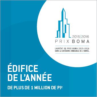 Le 1000, lauréat d'un prix BOMA Édifice de l'année dans la catégorie Immeuble de plus de 1 million de pieds carrés.