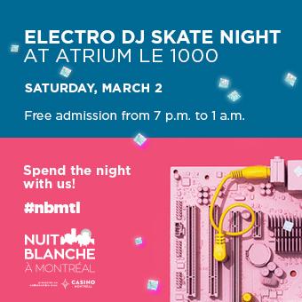 Nuit blanche 2019 Atrium Le 1000