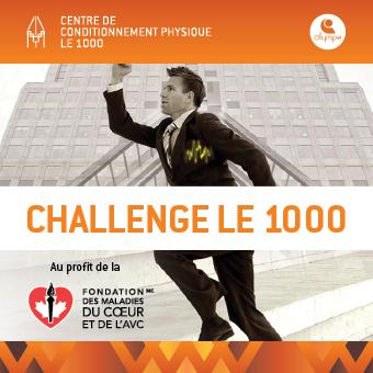 Le 1000 en collaboration avec la Fondation des maladies du coeur et de l'AVC présente la 5e édition du Challenge Le 1000. Une montée fait une différence.