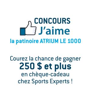 Concours Facebook J'aime Atrium Le 1000