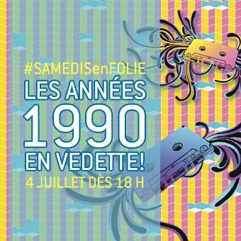 Samedis en folie à la patinoire Atrium Le 1000 - Le samedi 4 juillet dès 18 h, les années 1990 sont en vedette!