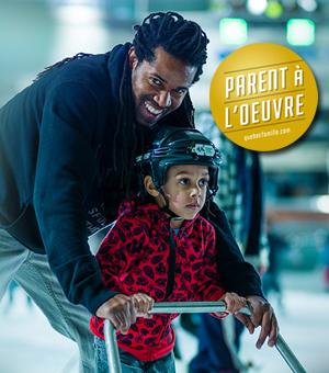 Semaine québécoise des famille 2014 - Parent à l'oeuvre à la patinoire Atrium Le 1000