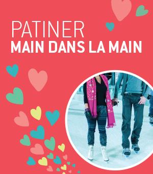 Cette Saint-Valentin, patiner main dans la main à la patinoire Atrium Le 1000