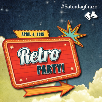Saturday Craze at the Atrium Le 1000 skating rink - On Saturday, April 4, join us for our Retro Party!