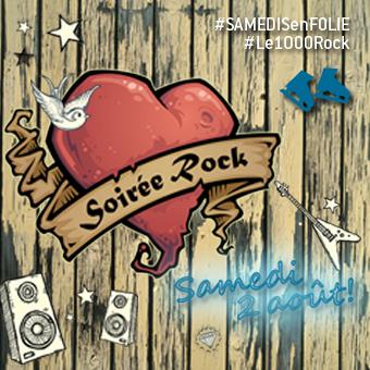 Samedis en folie à la patinoire Atrium Le 1000 - Le samedi 2 août, c'est la Soirée Rock!