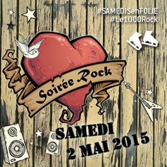 Samedis en folie à la patinoire Atrium Le 1000 - Le samedi 2 mai, place à la Soirée Rock!