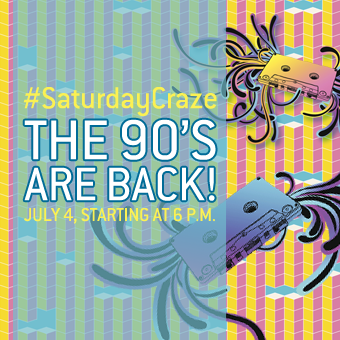 Saturday Craze at the Atrium Le 1000 skating rink - On Saturday July 4, 2015, make way for the 90's!