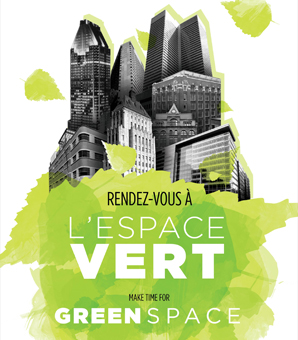 Rendez-vous at the Green Space on Monday, June 1, 2015, from 12 to 2 p.m. at the mezzanine of Le 1000 De La Gauchetière.