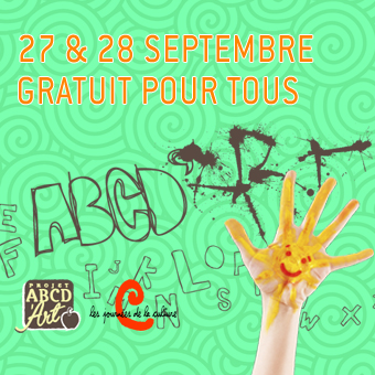 Journées de la culture à la patinoire. Ateliers de dessin, peinture et maquillage avec le Projet ABC D'Art!
