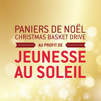 Christmas Basket Drive in support of the Sun Youth Organization - November 24 to December 12, 2014