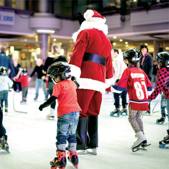 Santa Claus Returns to the Skating Rink! On Suday, December 7, 2014, from 11 a.m. to 3 p.m.