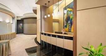 Reception area of the Centre de conférences Le 1000