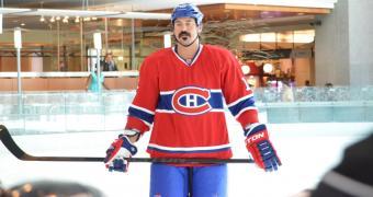 Visite du joueur des Canadiens de Montréal, défenseur George Parros. (Juillet 2013)
