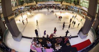 Panoramic view during the Sugar 'n Ice and Everything Nice! event - Nuit blanche à Montréal 2013 at the Atrium Le 1000